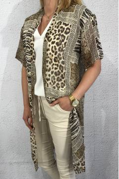 Kaftan Leo/Zebra brown