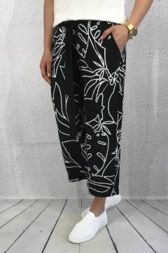 QR Emme wide leg Black/white