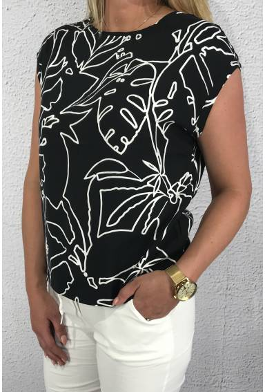Shirtblouse printed black