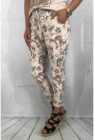 2245 Joggingpant Pink flower