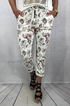 2245 Joggingpant White flower