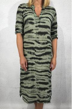20046 Dress animalprint Khaki