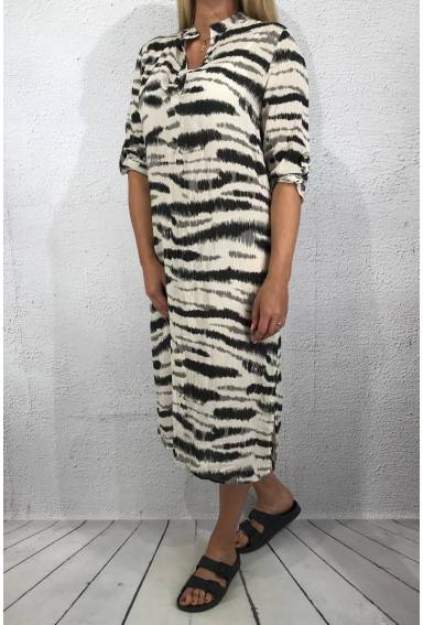 20046 Dress animalprint Beige