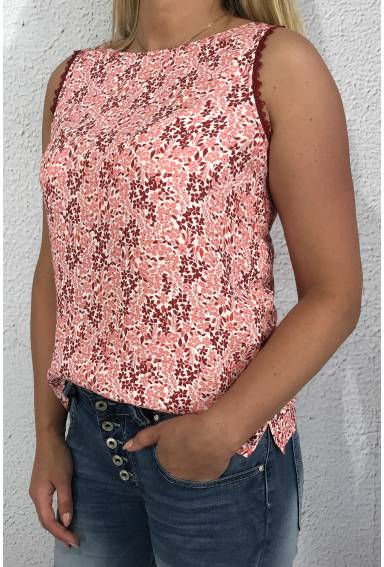 Top lace print Sweet Wine