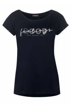 T-shirt print Good feeling Deep Blue