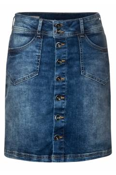 Denim Skirt buttondown detail Indigo Blue