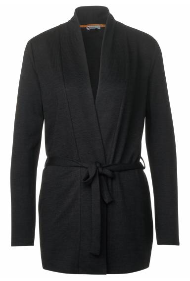 Cardigan with belt Black