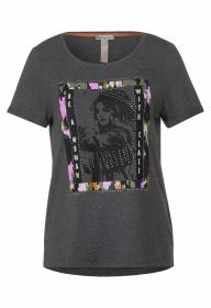 T-shirt partprint WOMAN Grey Melange