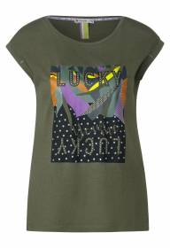 T-shirt partprint LUCKY Shade Olive