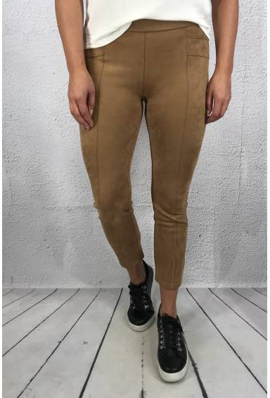 Pant Hope velour skinny Natural Brown