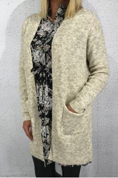 Lucy Cardigan pocket Creme