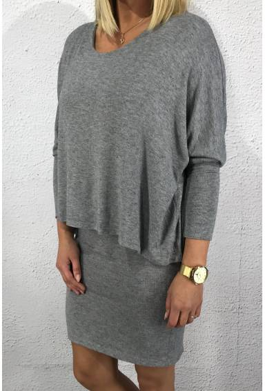Dress Amelia Two in one Grey
