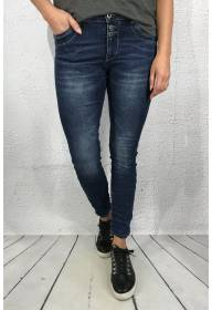 JW1545 Jeans with two buttons Blue Denim