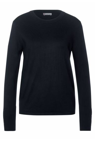 Sweater with button details Dark Blue