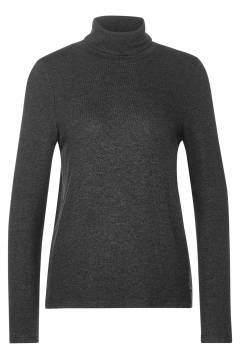 Sweater LdtQR soft rollneck Coaly Antracit