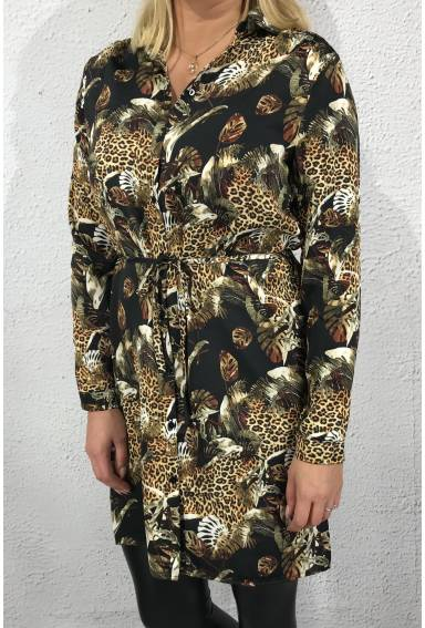 Elisa Tunic Black/Animal