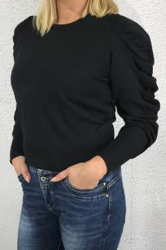 Sweater with frill Black