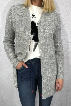 Lucy Cardigan pocket Grey melange