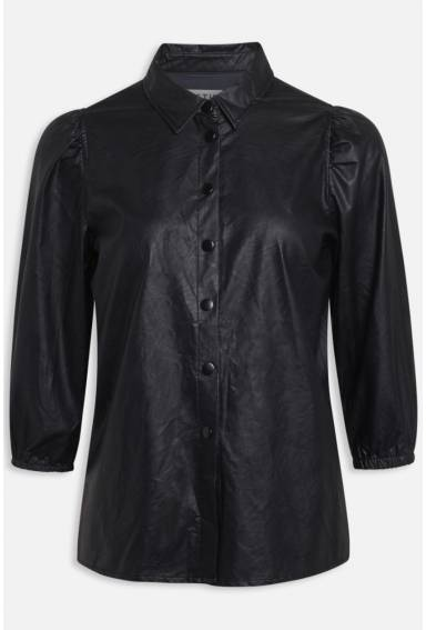 Clara Blouse PU Black