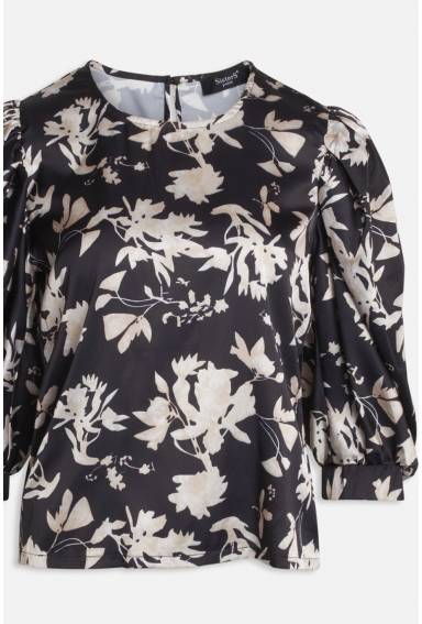 Gabriella Blouse Black/Latte/Flower