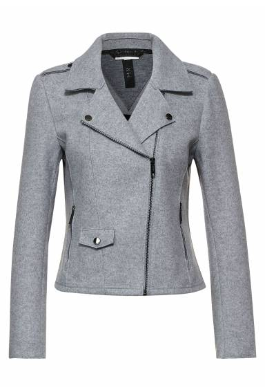 LdtQR Fake wool Jacket  City Grey