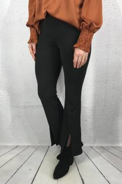 Trouser with slits Black