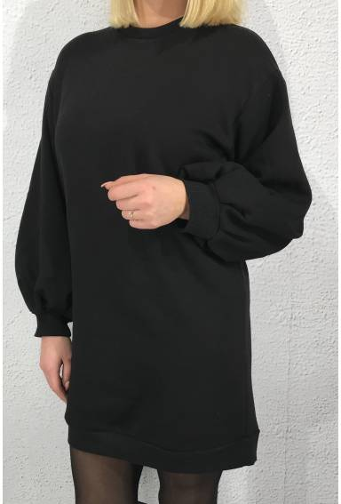 Mia sweatshirt Dress Black
