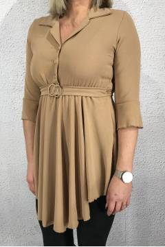 Charlotte Tunic with buckle Camel