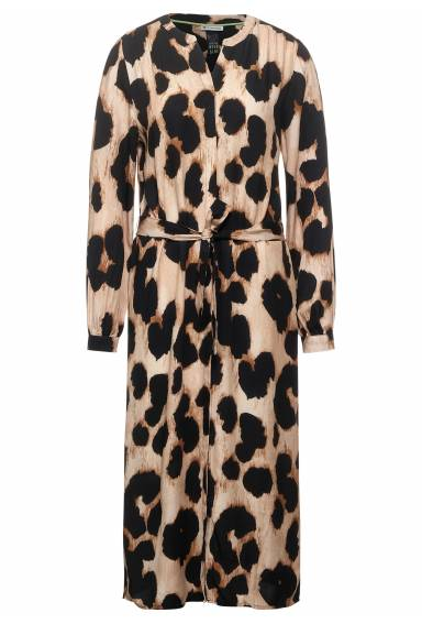 Carol Dress animal print savannah Sand