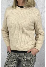 Rib jumper knit almond cream