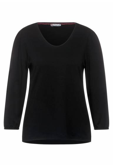 Shirt with puffsleaves Black