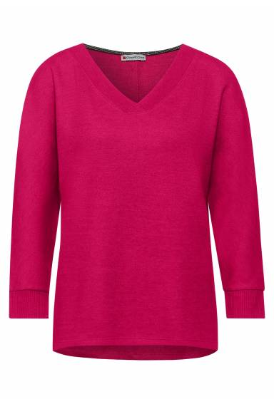 Roby sweater v-neck Rasberry
