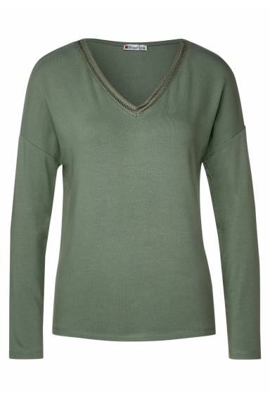 Cecil v-neck Soft Green