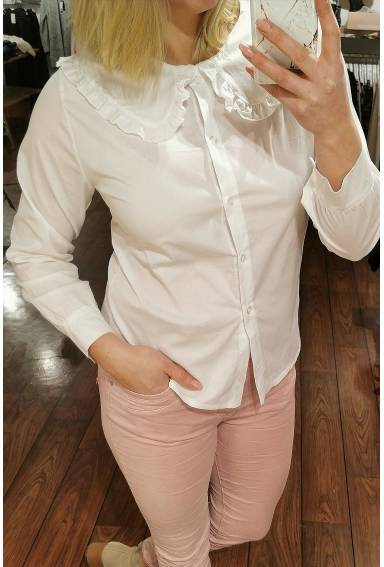 Blouse  with large collar White