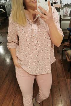 Emiliy Blouse small flowered Rose