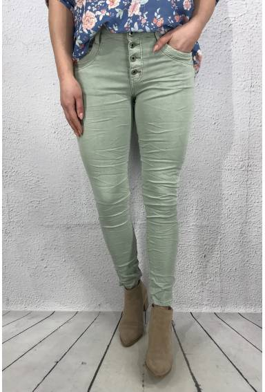 Emma  Jeans  buttons Green