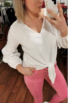 Charley Blouse knot White
