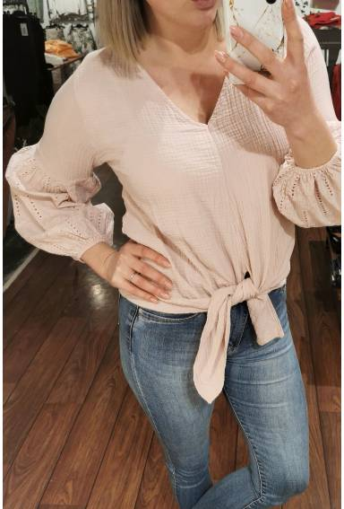 Charley Blouse knot Pink