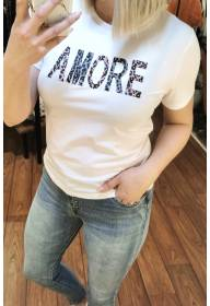 Kitty T-shirt Amore White