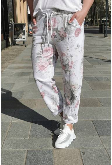 Avelyn sweatpant White/Rose