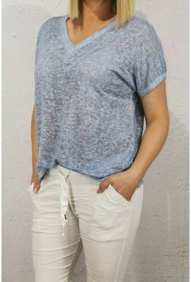 Cilla Top enzyme washed Jeansblue