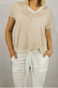 Cilla Top enzyme washed Beige