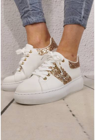 Sneakers White/Gold
