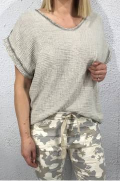 Holly Top waffled Beige