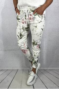 Tracy Pant Roses White/Pink