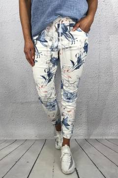 Tracy Pant Roses White/Blue