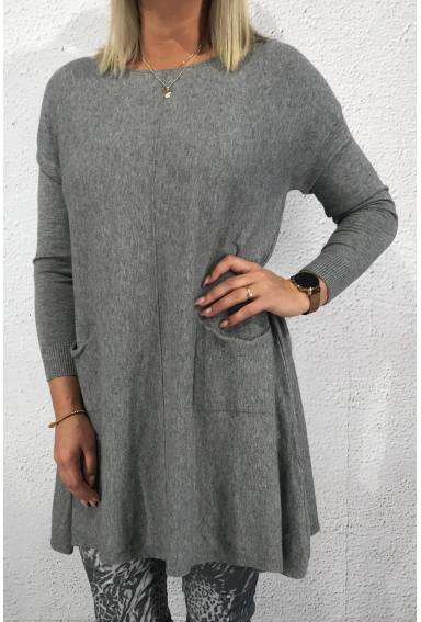 Elin knitted Tunic Grey