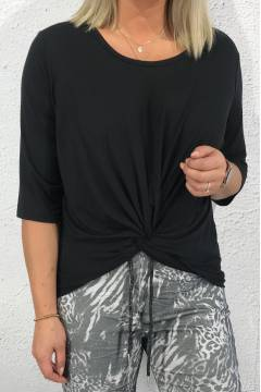 Maggy Top knot Black