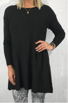 Elin knitted Tunic Black