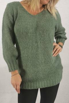 3108 Sweater knitted Green